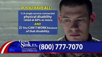 george sink p a tv commercial veterans benefits