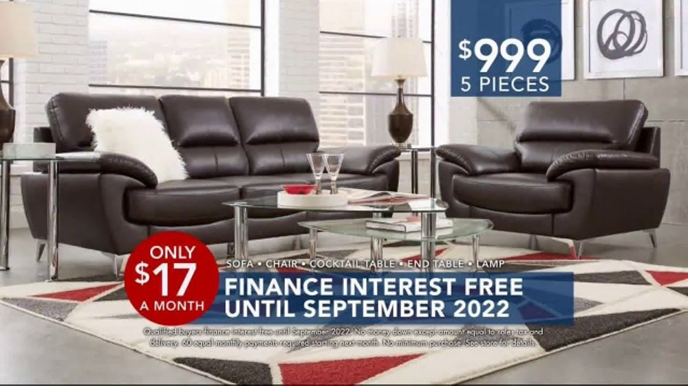 Rooms to Go Labor Day Sale TV Commercial FivePiece