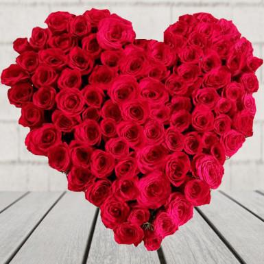 heart shape arrangement of