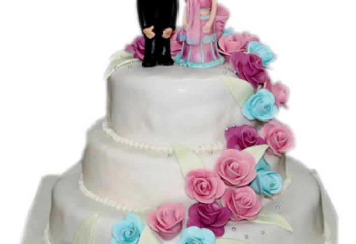 Beautiful Rose 3 Tier Wedding Cake Winni