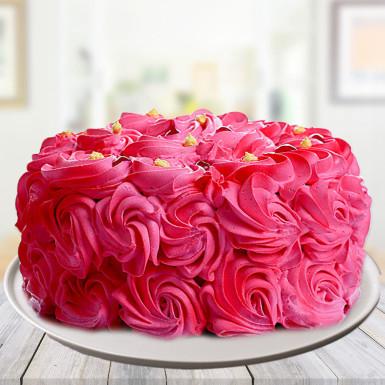 Romantic Pink Blush Strawberry Cake Winni