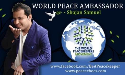 Brand Ambassador for World PeaceKeepers Movement .