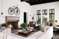 Sheryl Crow's Rustic Living Room by Architectural Digest ...