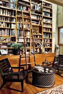 Rustic Library Office