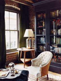 Rustic Home Office Library