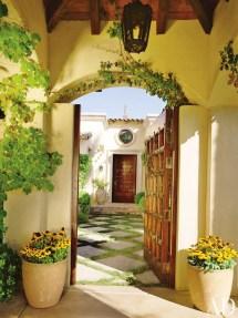 Spanish Hacienda Style Courtyard Doors