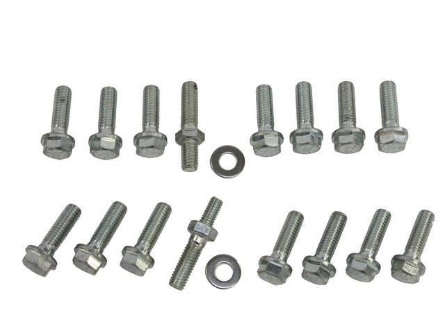 Fastener Kit, Intake Manifold, Aluminum, (17) incl bolts w