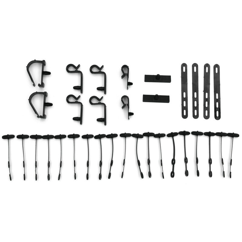 1967 Mustang Wire Loom Mounting Kit, 25 pcs