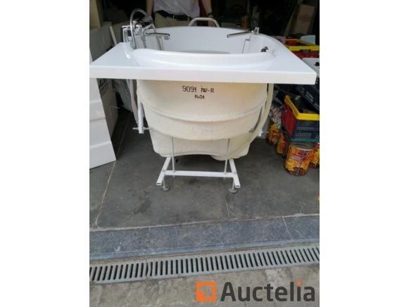 baignoire assise murale ibiza avec