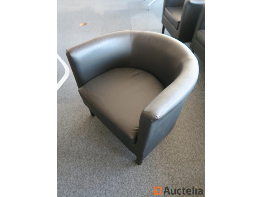 fauteuils club en similicuir ikea