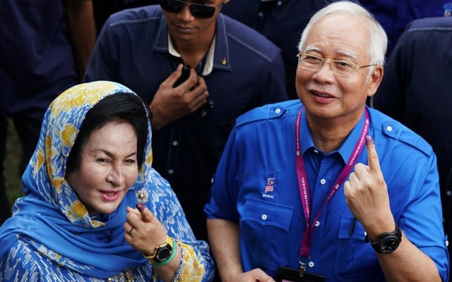 Ousted PM Najib listed on manifest for jet leaving