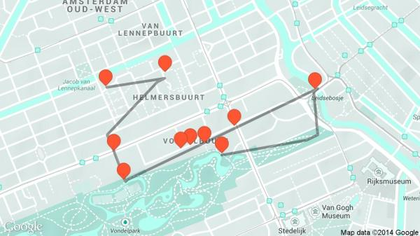 OldWest Walk travel tour audio guide in Amsterdam on
