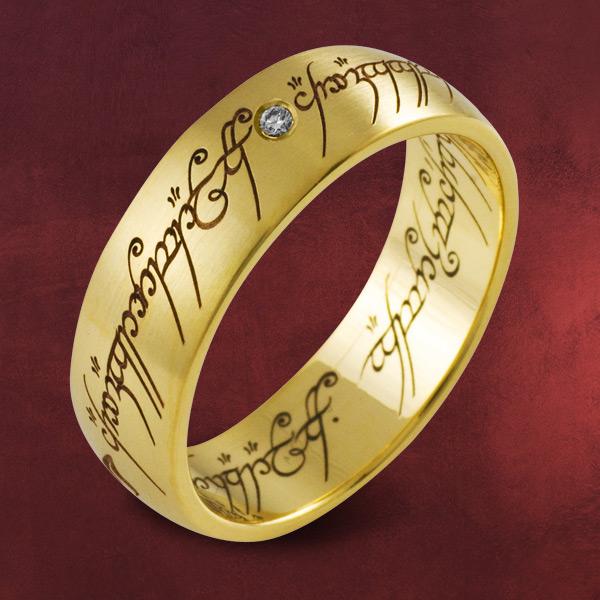 Herr der Ringe  Ring Gelbgold mit Diamant Damen Schmuck Gold Der Eine Ring  eBay