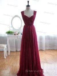 Sweetheart Girl   Custom Made Wine Red A-line Chiffon ...