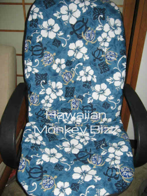 hawaiian chair covers desk yew teal flower turtles car seat front back on storenvy small