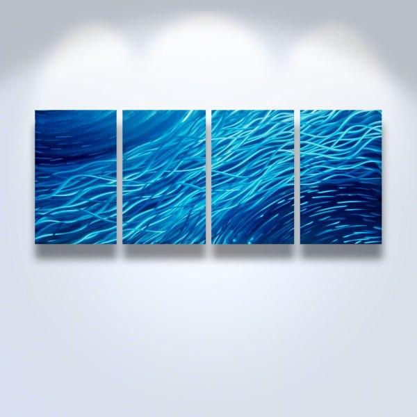 Ocean- Metal Wall Art Abstract Contemporary Modern Decor