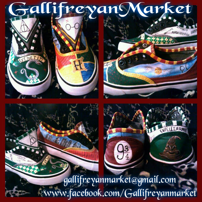 Hand Painted Shoes Inspired By Harry Potter Vans Cons
