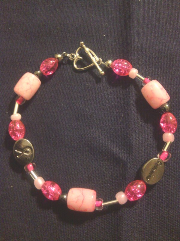 Pink Silver Breast Cancer Survivor Bracelet Storenvy