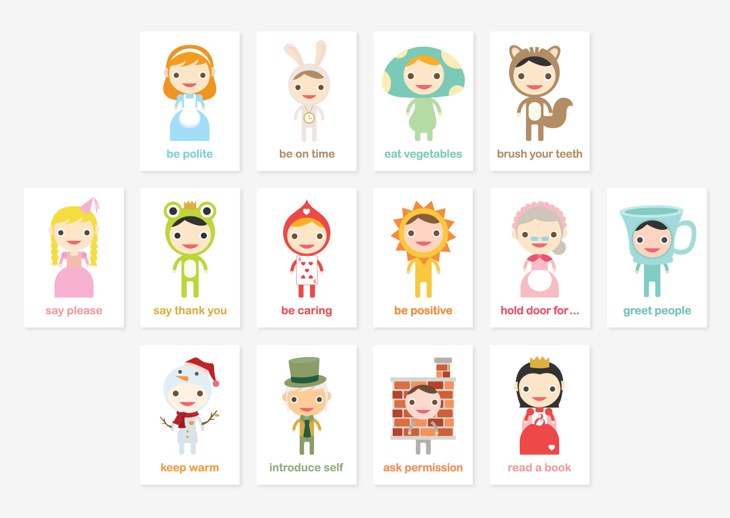 Happy Manners Card Set Of 43 Good Manners Learning