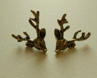 Bronze Deer Antler Earrings  Lil' Pixie Charms  Online ...