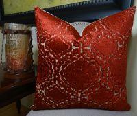 """18"""" x 18"""" Designer Decorative Pillow - Burgundy Velvet ..."""