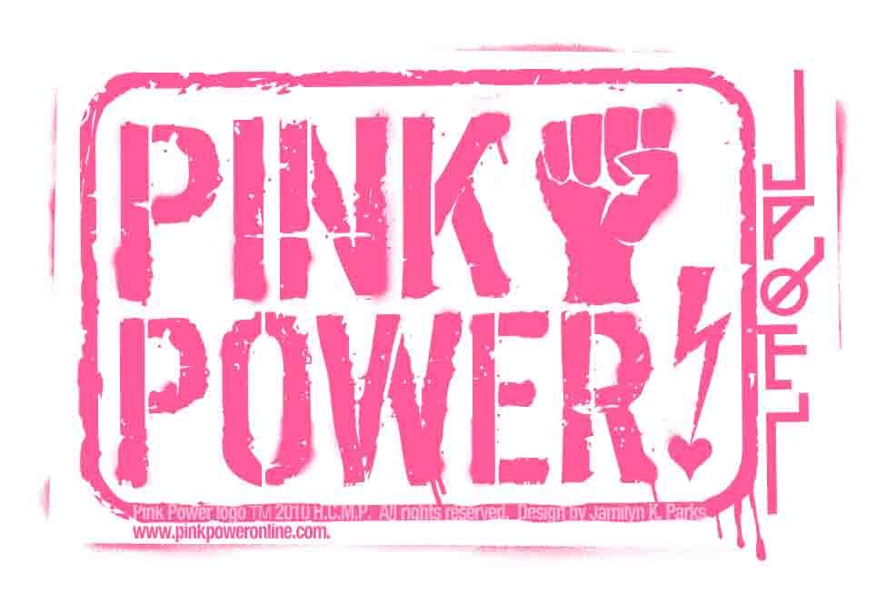 Pink Power Logo Sticker On Storenvy