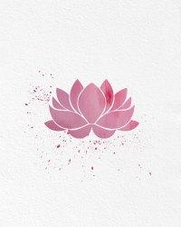 Watercolor Art Lotus Flower gift Modern 8x10 Wall Art ...