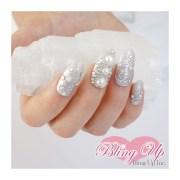silver glitter wedding 3d bling