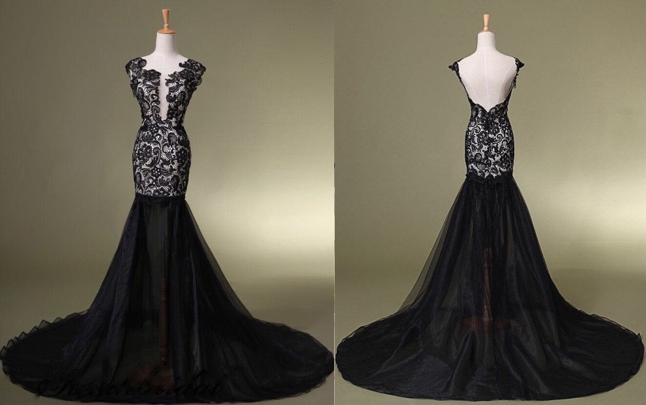 Lace Red Or Black Sexy Prom Dress Formal Dress Cocktail
