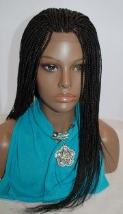 hand braided lace front wig #1
