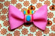 princess peach inspired hair bow