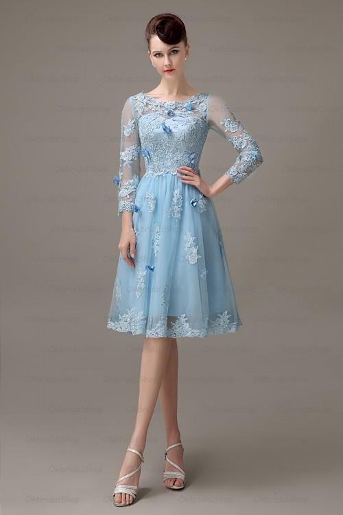 long sleeve prom dress lace prom dress short prom dress