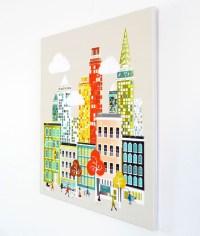 New York Wall Art, Manhattan Skyline, Framed Canvas Wall ...