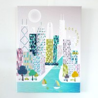 Chicago Wall Art Canvas Skyline Print, Framed Poster ...