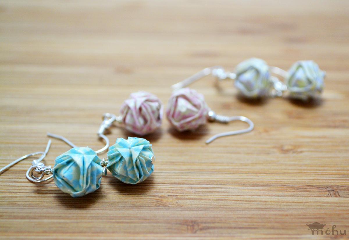 Pastel Origami Earrings by Mohu
