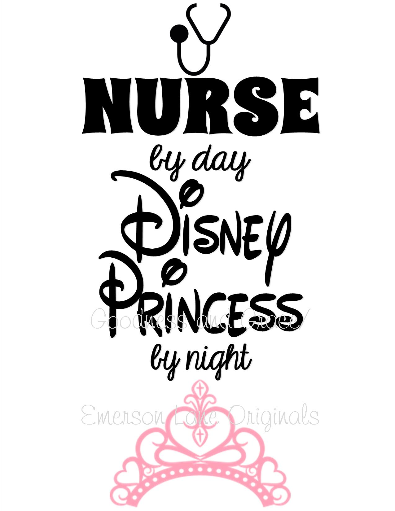 Nurse By Day Disney Princess By Night T Shirt On Storenvy