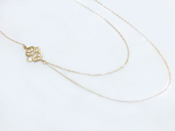 Hollow out Flower Multilayer Necklace on Storenvy