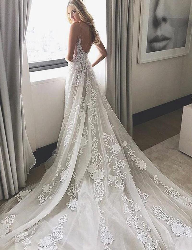 2017 Wedding Dress White Lace Long Wedding Dress Bridal
