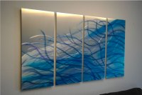 Resonance Blue 36 - Abstract Metal Wall Art Contemporary ...