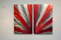Radiance Red 31 - Metal Wall Art Abstract Sculpture Modern ...
