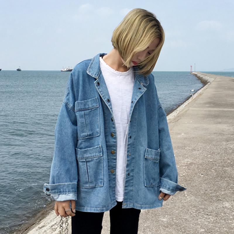 oversized denim jacket s