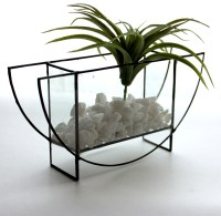 Modern Geometric Half Circle Glass Terrarium- Stained ...