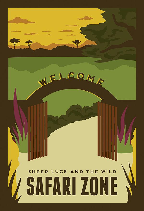 pokemon travel poster safari