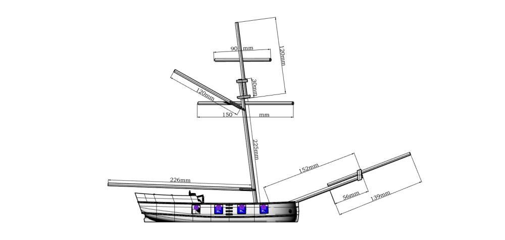 medium resolution of  buccaneer sloop 28mm scale thumbnail 4