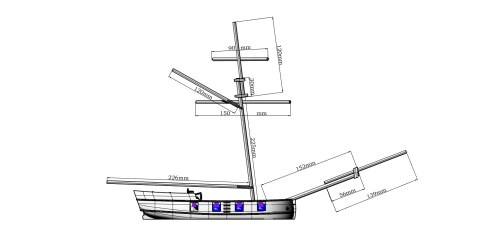 small resolution of  buccaneer sloop 28mm scale thumbnail 4