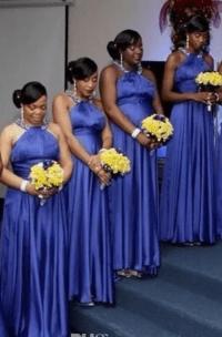 Nigerian Bridesmaid Dresses Halter Sleeveless Bridesmaid ...
