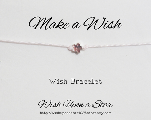 Flower Bracelet, Wish Bracelet, Make a Wish, Friendship