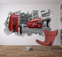 London Wall Decal 3d - Broken Wall Decal - 3d Wallpaper ...