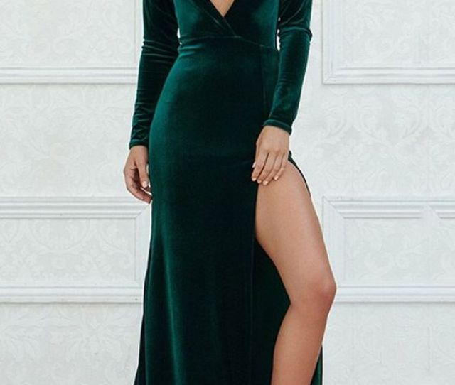 Sexy Emerald Green Prom Dress V Neck Long Prom Dresses Halter Backless Prom