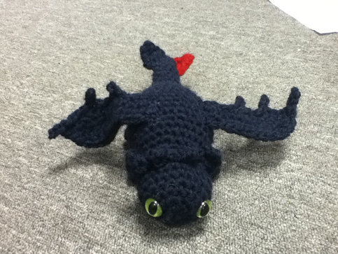 How to Train your Dragon Toothless Nightfury crochet